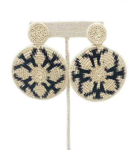Nubia Beaded Earring: White