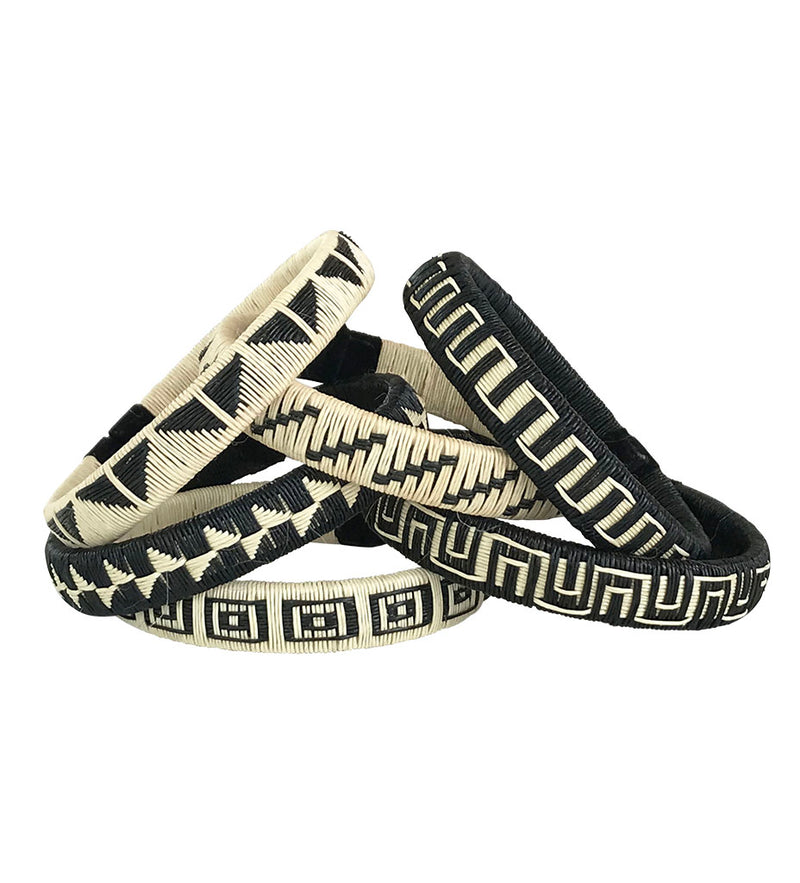 Geometric Colombian Woven Bangles