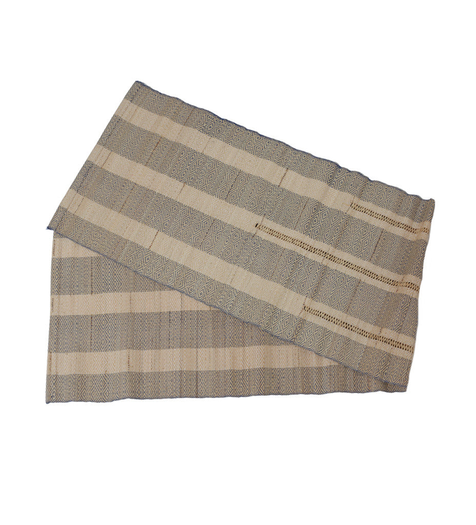Geometric Vetiver Table Runner