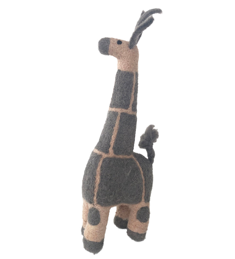Georgia the Felted Giraffe: Grey Small