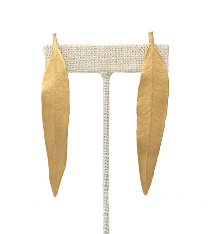 Large Fringe Drop Earring: Mustard