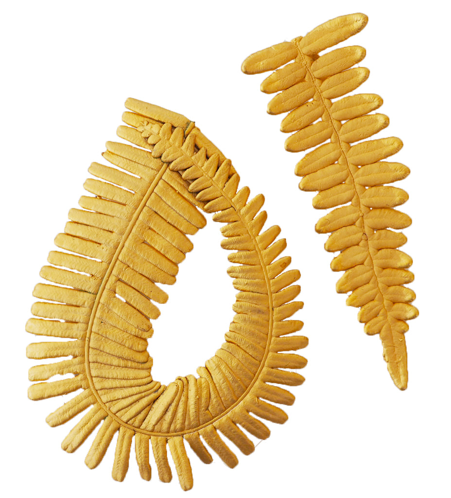 Gold Fern Earring