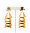 Gold Tiered Drop Earring