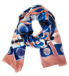 Itajime Silk Scarf: Rose and Navy