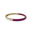 Hand Carved Lacquered Horn Bangle: Magenta