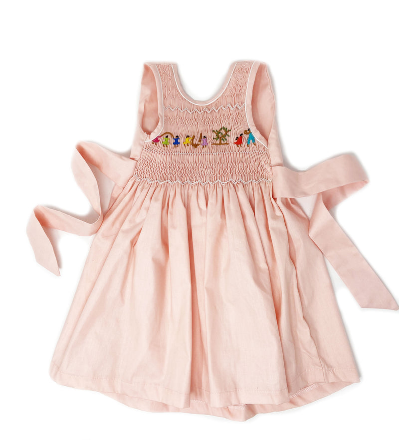 Hand Smocked Dress: Mango