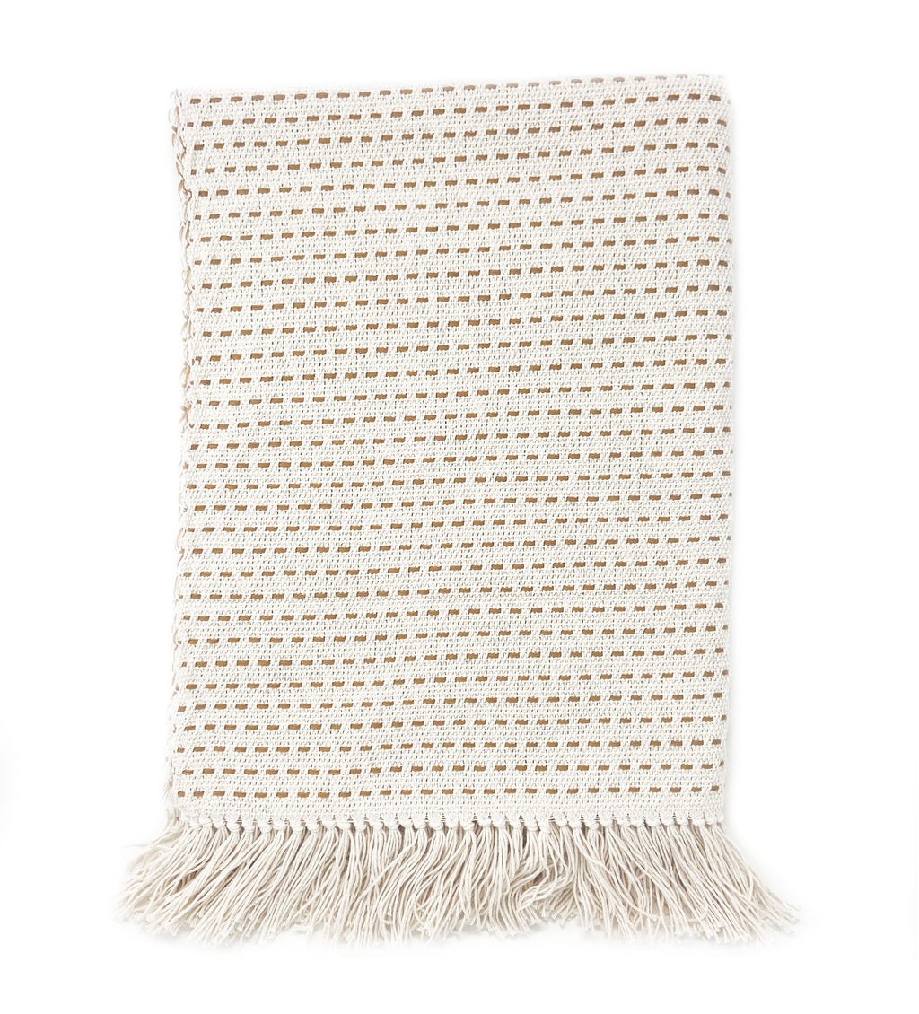 Handwoven Throw: Gold Stitch
