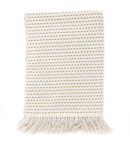 Handwoven Throw: Long Blush Tassels