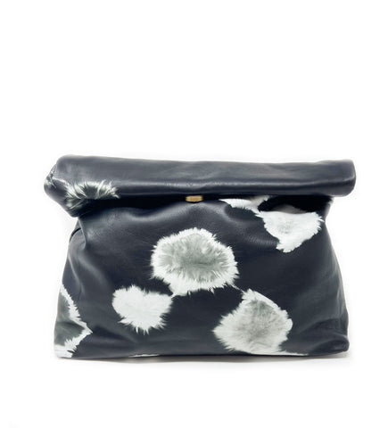 Addis Zip Pouch: Black Circle