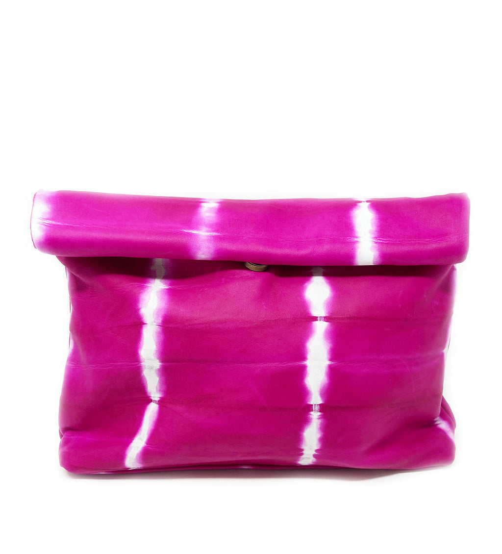 Hasset Fold Over Clutch: Fuchsia