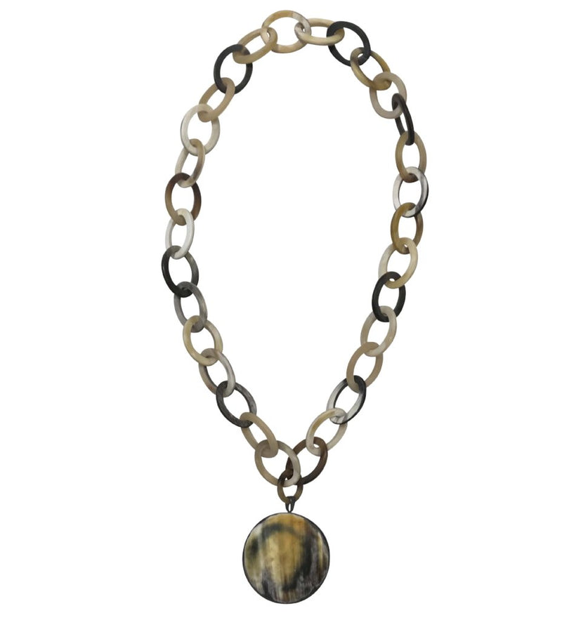 Horn Necklace with Pendant