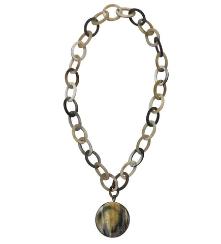 Sphere Horn Choker in Charcoal/White