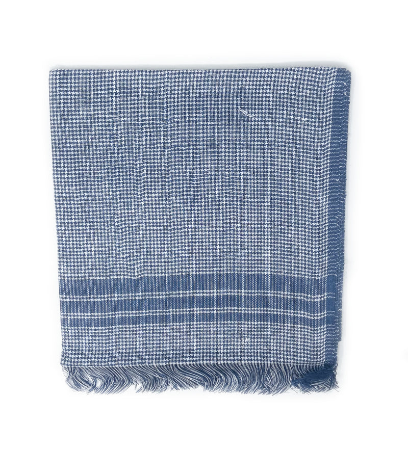 Houndstooth Scarf: Navy