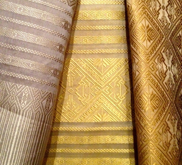 Laotian Silk Table Runner or Shawl