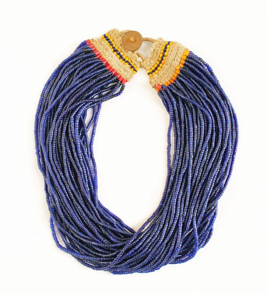 Cobalt Naga Necklace Medium Full