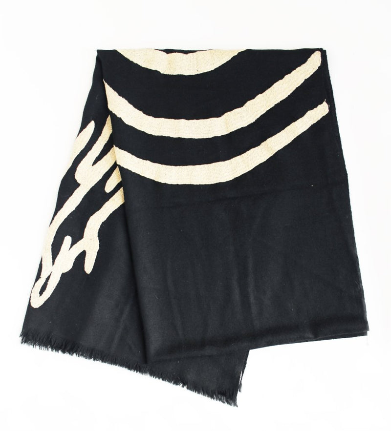 Peace Shawl: Black with Gold