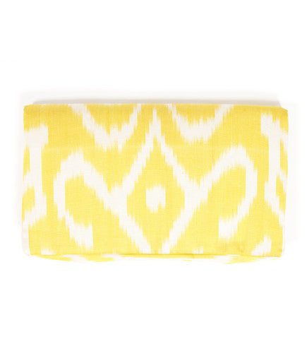 Ikat Foldover Clutch: Yellow