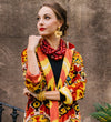 Ikat Velvet Classic Jacket: Holiday
