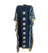 Indian Caftan: Blue with Cream Squares and Sulphur