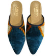 Ikat Silk Slide: Blue