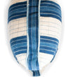 Indigo and White African Strip Weaving Box Pillow