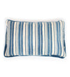 Indigo and White Medallion Lumbar Pillow
