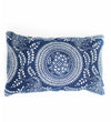 Large Kuba Cloth Pillow with Poms