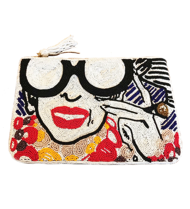 Iris Apfel Beaded Clutch