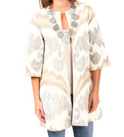 Quilted Ikat Jacket: Light
