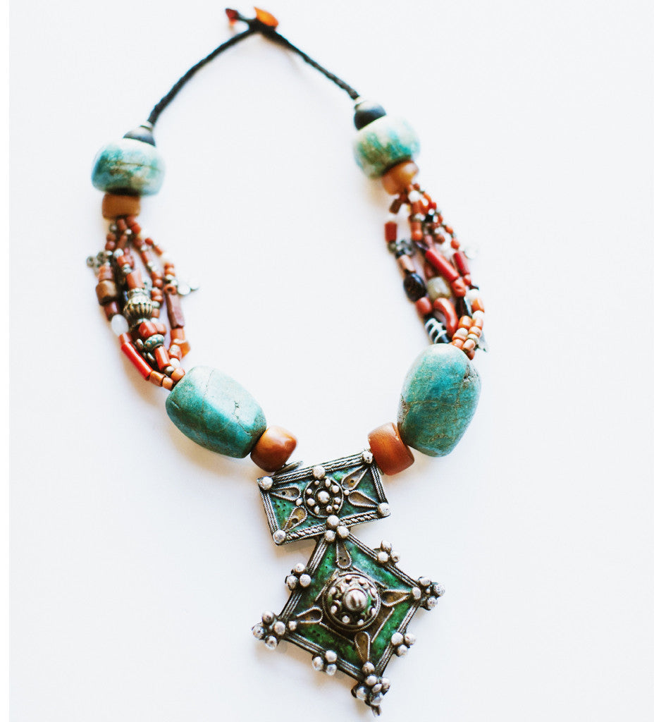 Berber Jewish Cross Necklace