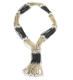 Murle Metallic Thirty Strand Necklace