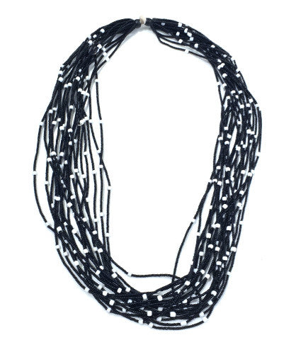 Striped Multi Strand Necklace