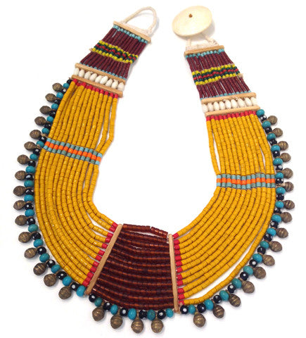 Konyak Tribe Glass Bead Necklace: Large