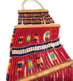 Konyak Tribe Glass Bead Belt: Red