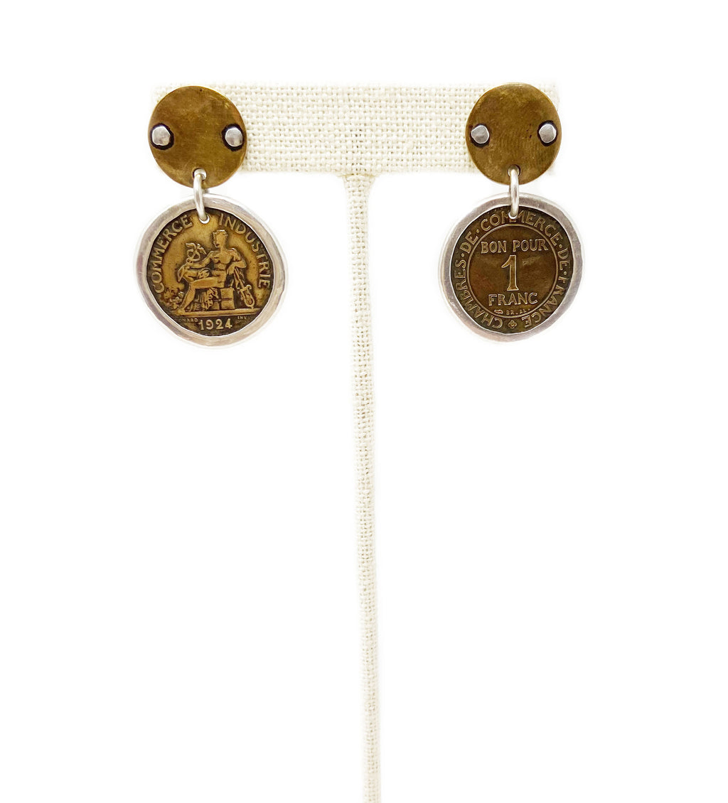 French Coin Earring