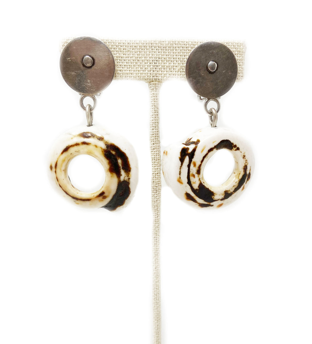 Tiger Trade Shell Earrings
