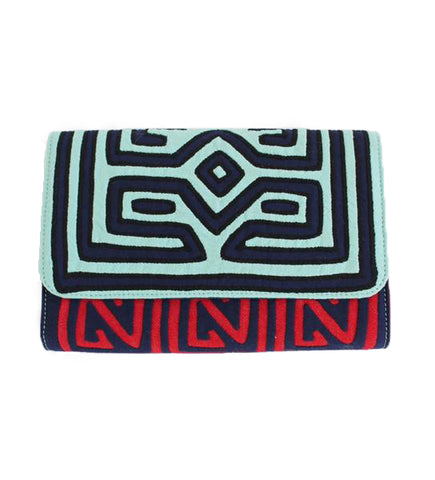 Kamu Clutch: Red and Aqua