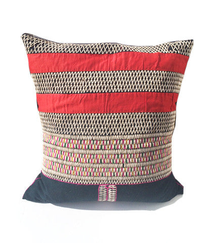 Karen Tribe Large Beaded Pillow