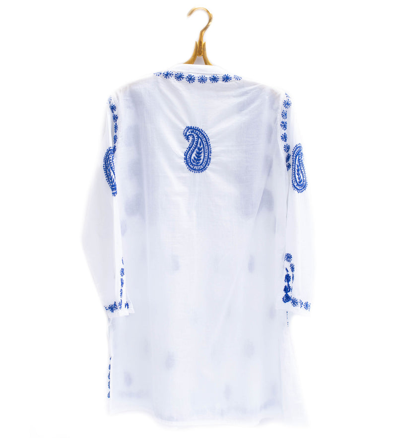 Karishma Embroidered Tunic: Blue