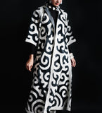 Keeper Coat: Ivory on Black