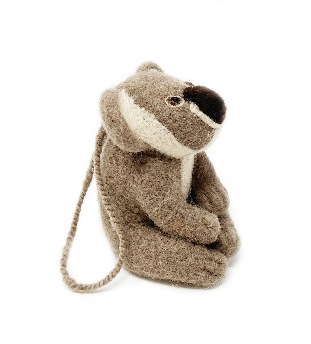Felted Koala Ornament