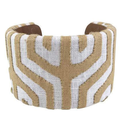 Cana Flecha Small Bangle: Natural