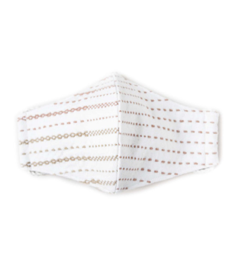 Protective Face Mask: Woven Stripe Gold