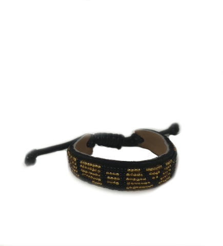 Cana Flecha Small Bangle: Black and White