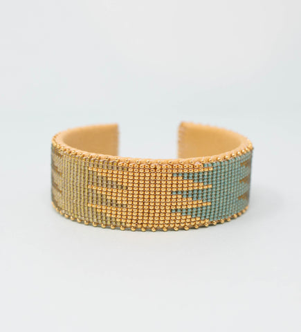 Cana Flecha Small Bangle: Blue and White