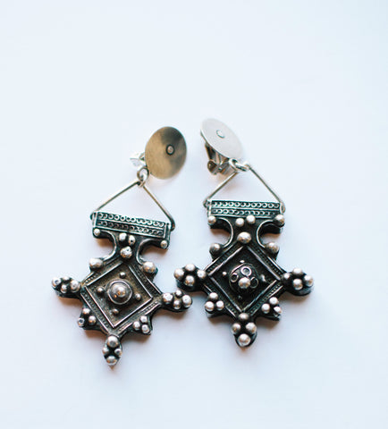 Large Boghdad Clip Earrings