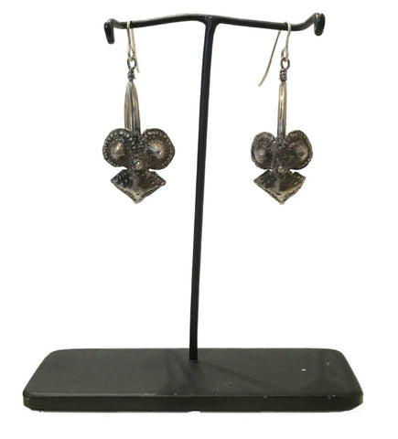 Grace Jones Earring: Dark Silver