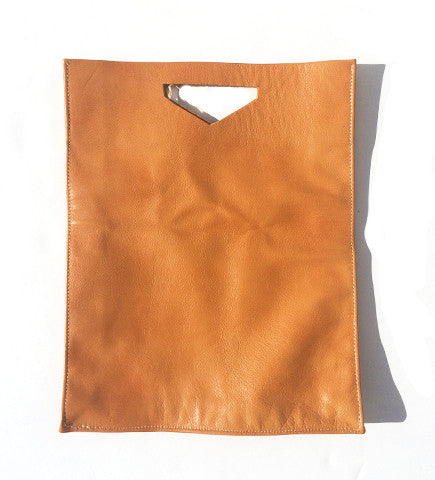 The Times Leather Tote