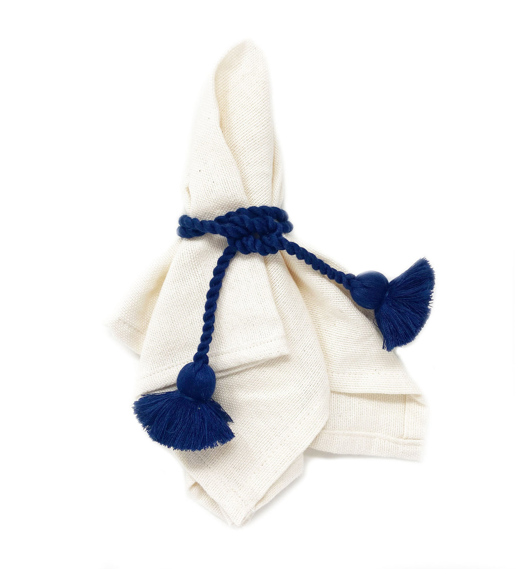 Tassel Napkin Ring: Navy