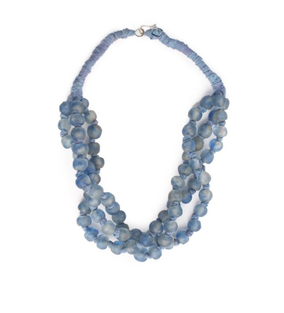 Luminescent African Glass: Sky Blue Multi Strand
